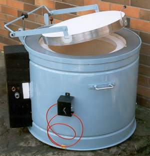 Elektrické odporové pece s vrchním plněním